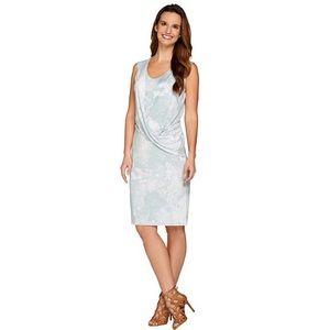 NWOT H by Halston Sleeveless Palm Green Dress